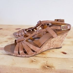 Clarks bendables leather wedges NEW size 9.5